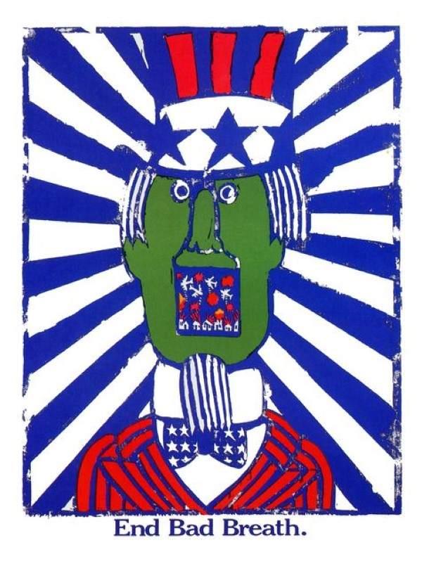 AP816-end-bad-breath-seymour-chwast-anti-war-poster-1967